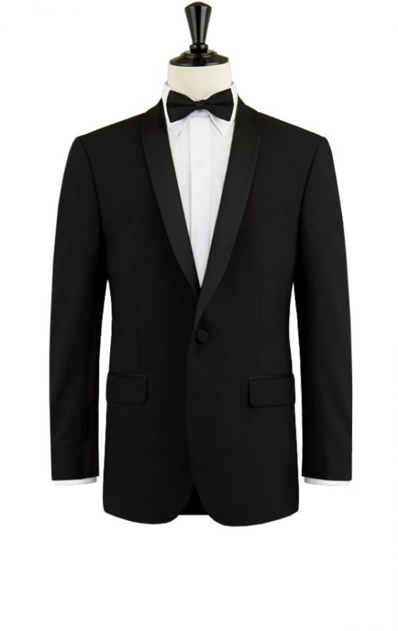 Dobell Mens White 2 Piece Tuxedo Regular Fit Shawl Lapel Evening Dinner Suit Black Pants